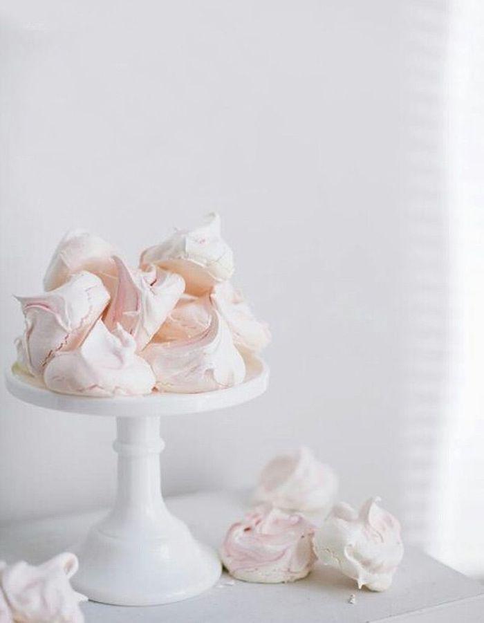 Mini meringues roses