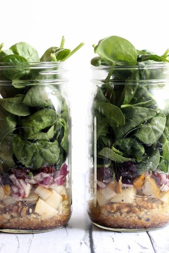 Salade bocal poire quinoa pinard saladinajar le bon r flexe pour une alimentation saine - Salade en bocal ...