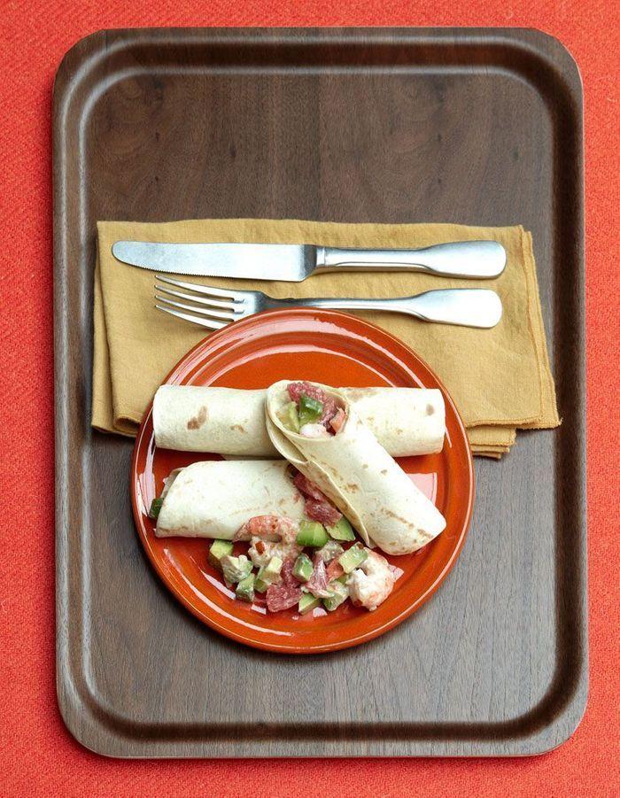 Burritos aux crevettes