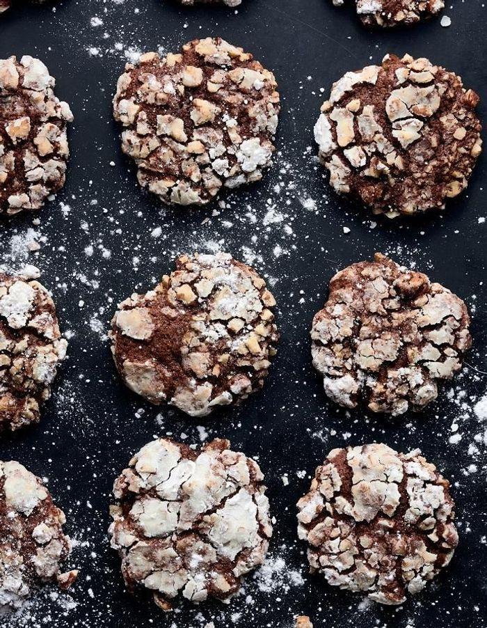 Cookies mi-cuits chocolat, banane et noix de pécan