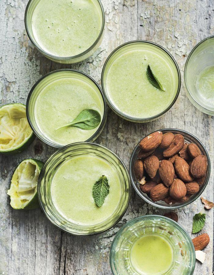 Green smoothie à l'amande