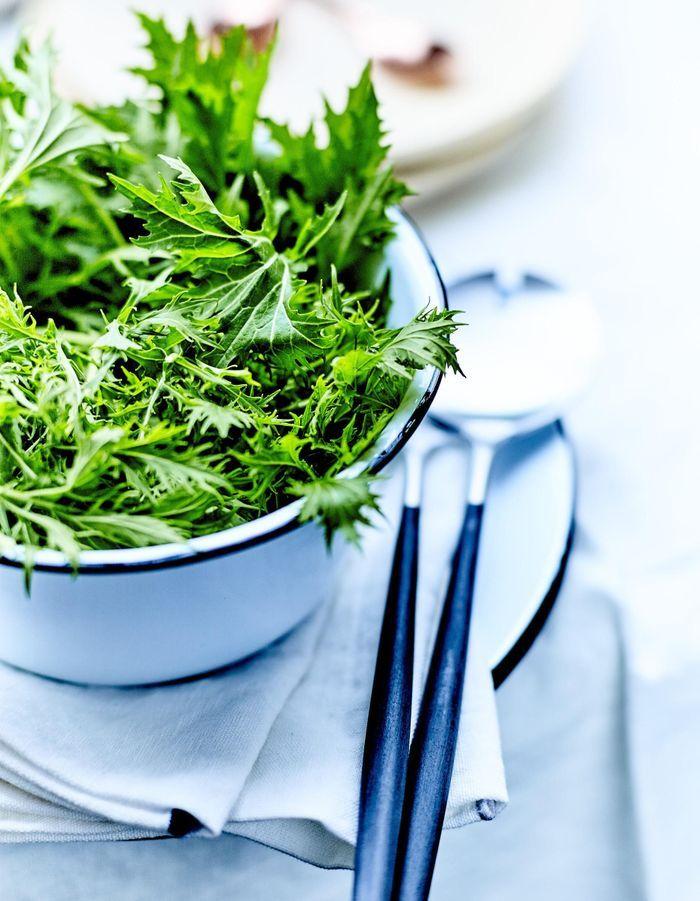 Salades vertes, vinaigrette au miel