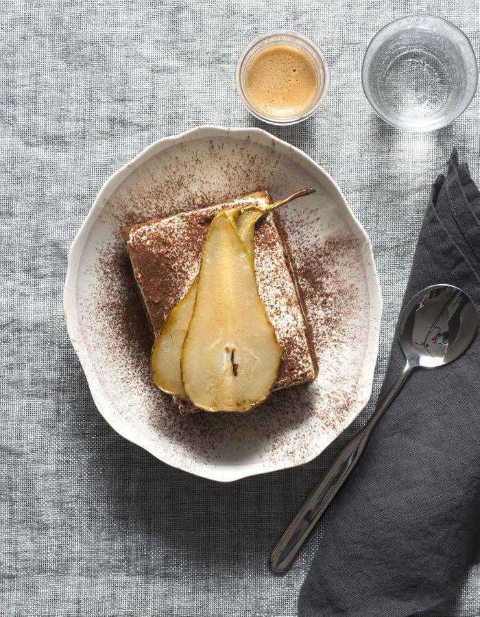 Tiramisu poire crème de marron