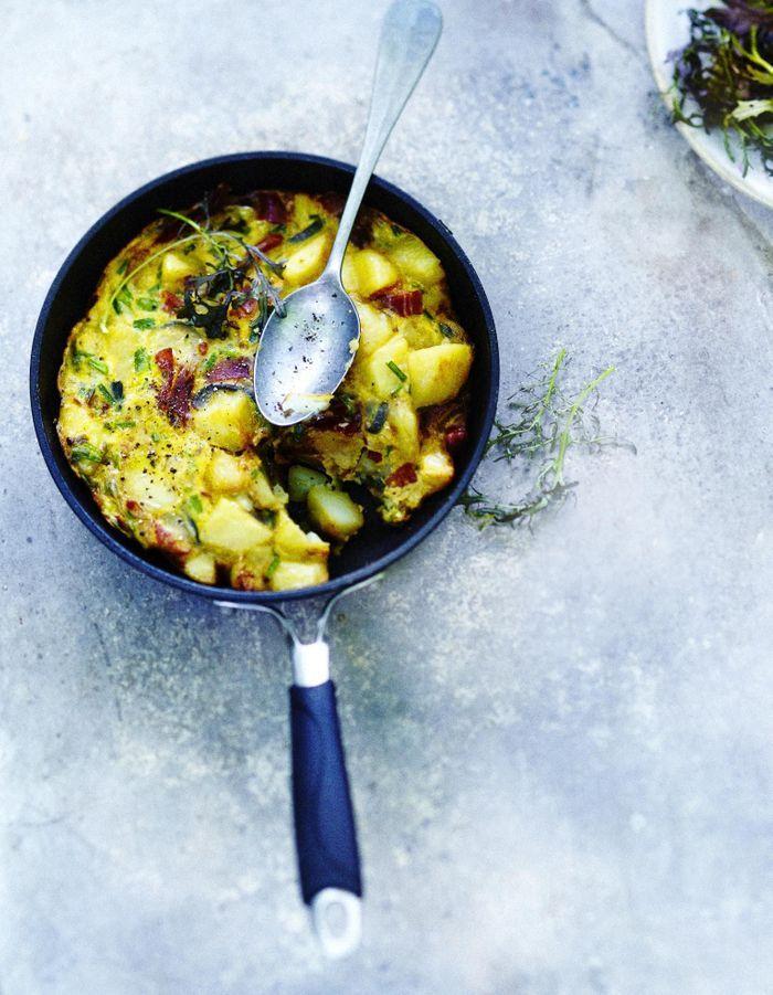 Tortilla de légumes et jambon serrano