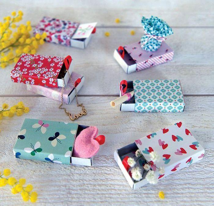 Emballage cadeau avec des boites d allumettes 25 id es d - Idee emballage cadeau original ...