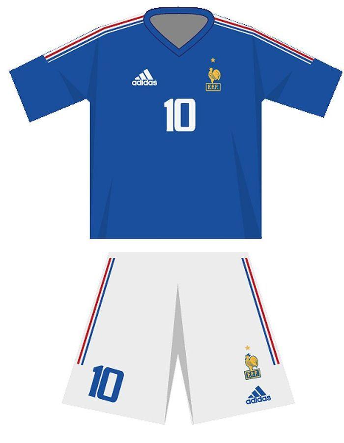 Le maillot de l quipe de france de football en 2002 coupe du monde de football le maillot - Maillot equipe de france coupe du monde 2014 ...