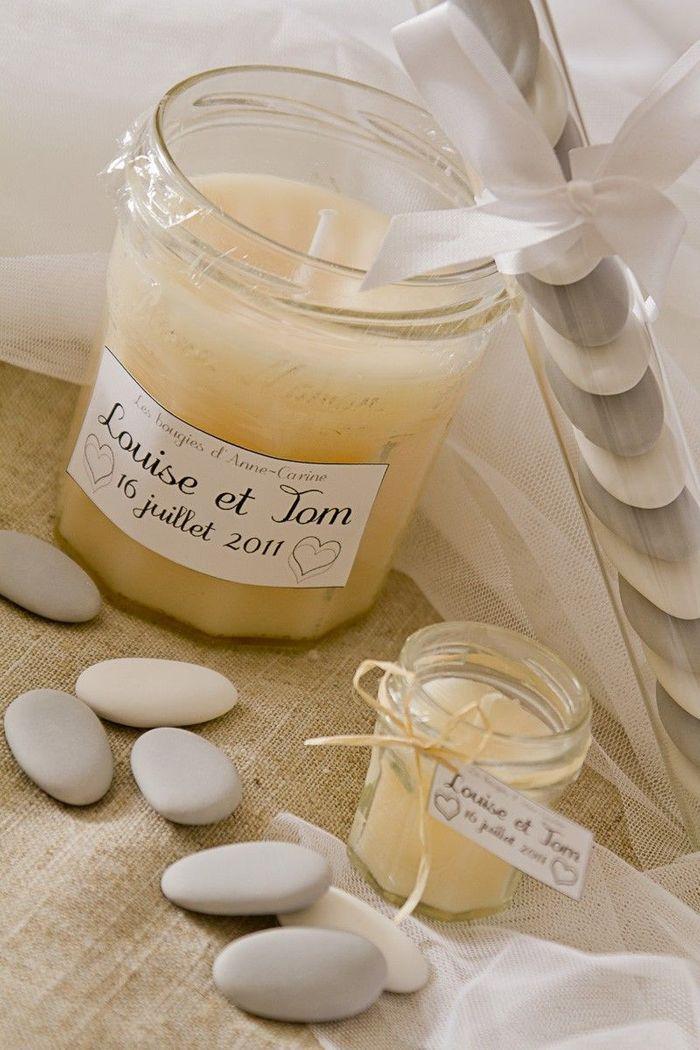 Bougies de mariage artisanales par Anne-Carine