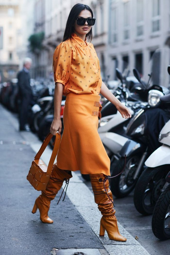 Un total look orange