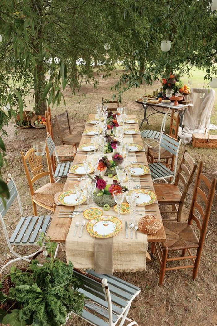 D coration de table mariage dor e les d corations de for Site pour decoration