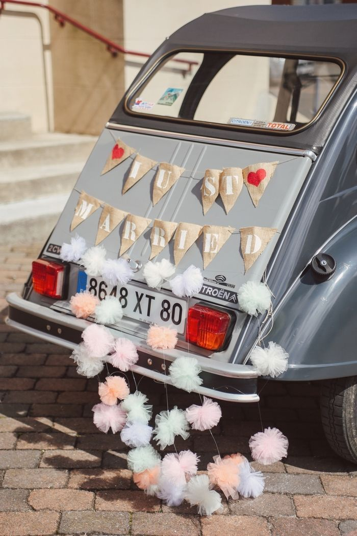 faire sa decoration de voiture mariage mariage just married jolies ...