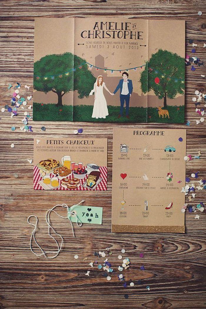 faire part mariage dessin - Faire Part Mariage Guinguette