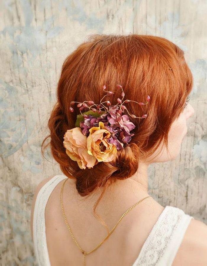 des fleurs orchid e dans les cheveux pour le mariage des fleurs dans les cheveux pour un. Black Bedroom Furniture Sets. Home Design Ideas