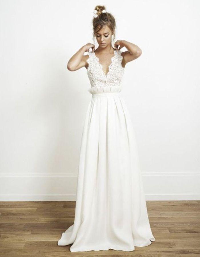 Robe de mariée de princesse décolletée - 50 robes de mariée de ...