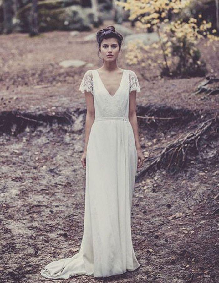 Robe de mari e de princesse manches courtes 50 robes de mari e de princesse qui font r ver elle - Robe de mariee transparente ...