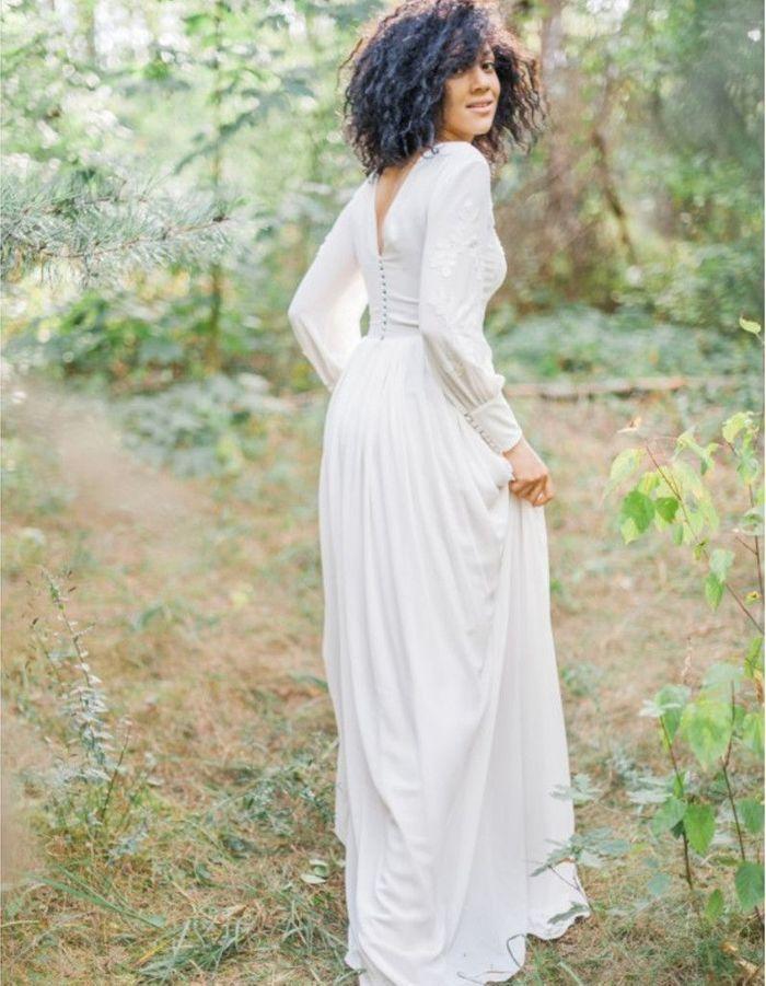 robe de mari e d 39 hiver manches longues 22 robes de. Black Bedroom Furniture Sets. Home Design Ideas