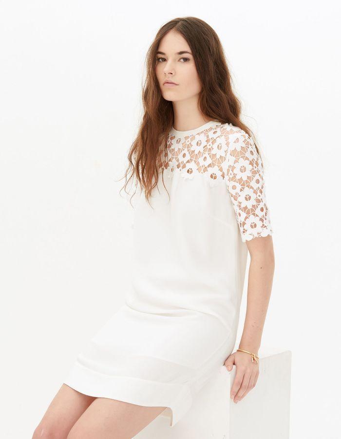 Robe de mariée courte bi-matières Sandro - Les plus belles robes de ...