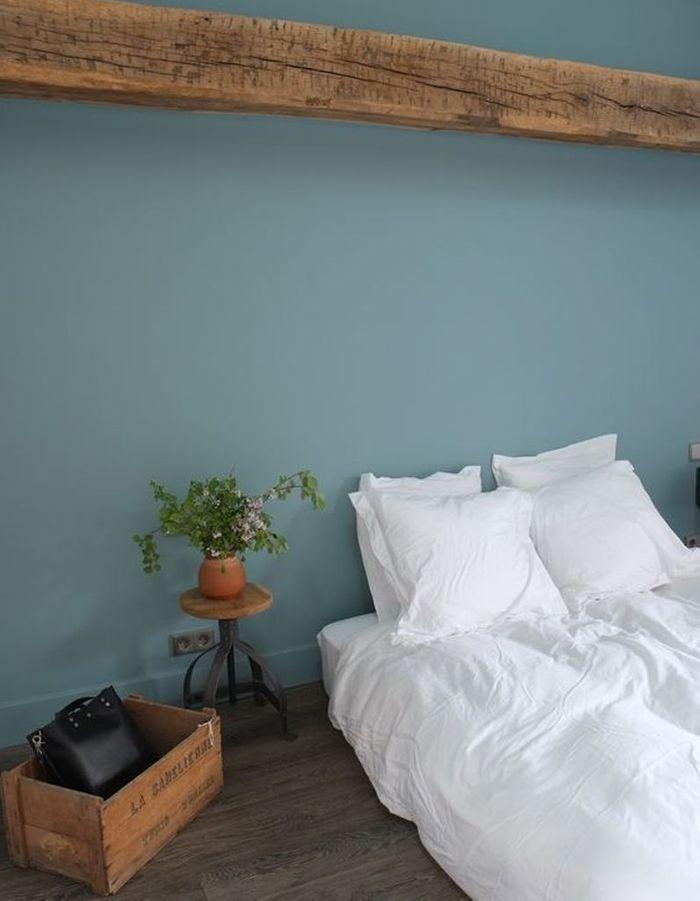 Chambre vert-bleu - Le vert dans la chambre - Elle