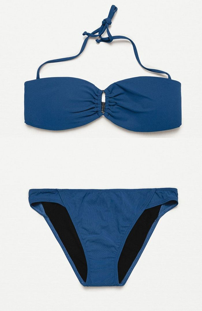 maillot de bain bandeau marine zara 25 maillots de bain. Black Bedroom Furniture Sets. Home Design Ideas