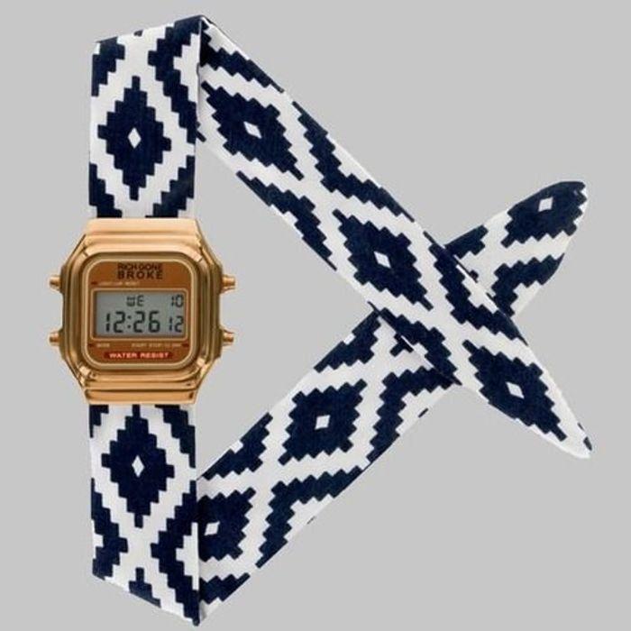 Montre bracelet géométrique Rich Gone Broke
