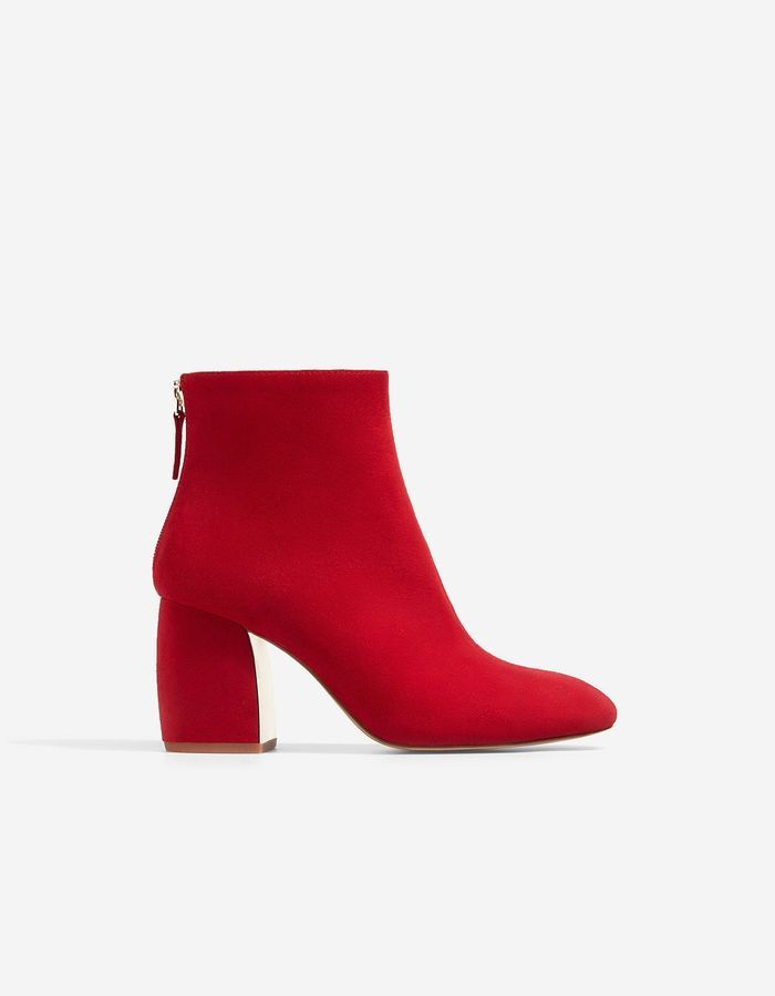 Bottes En Daim Valentino Rouge