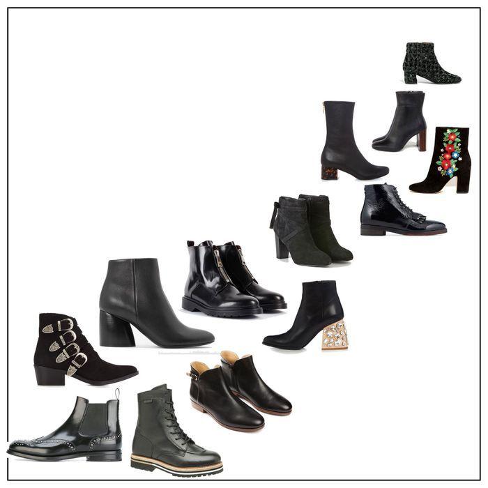 50 bottines noires pour commencer l'hiver du bon pied