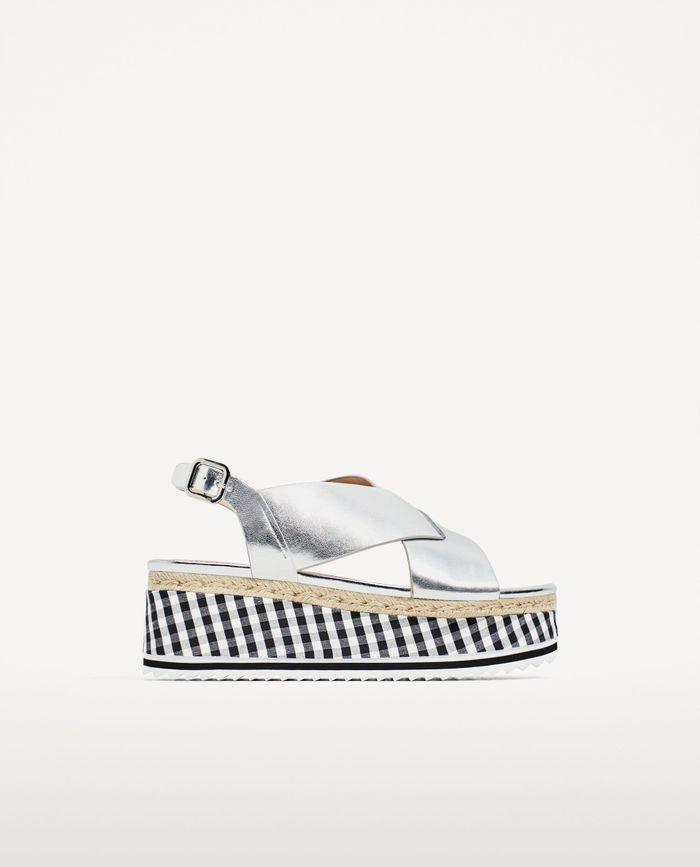 Sandales compensées Zara