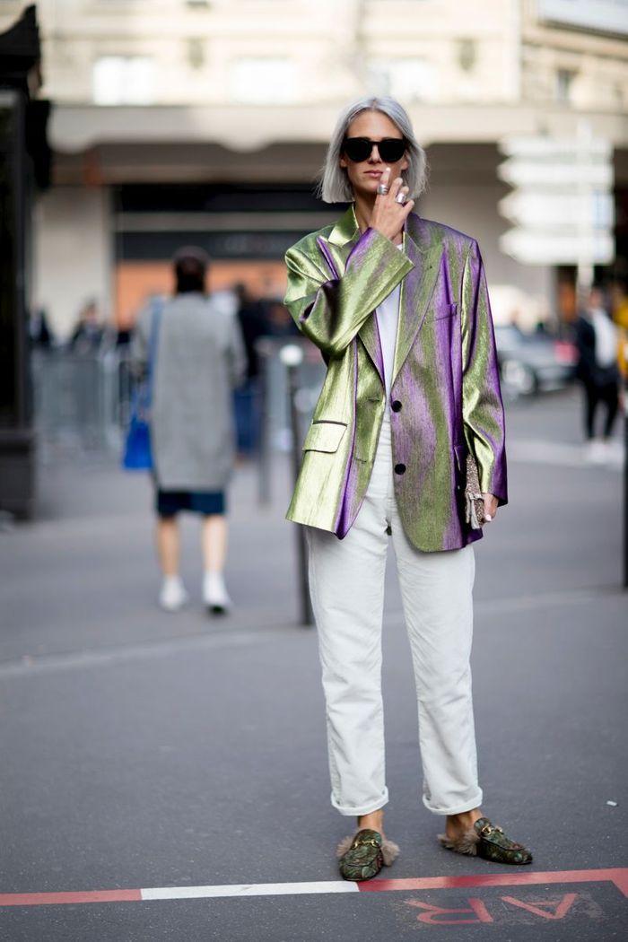 Le blazer métallisé