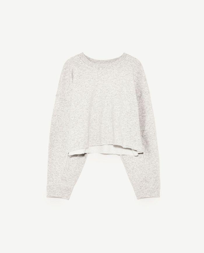 Sweat-shirt court Zara
