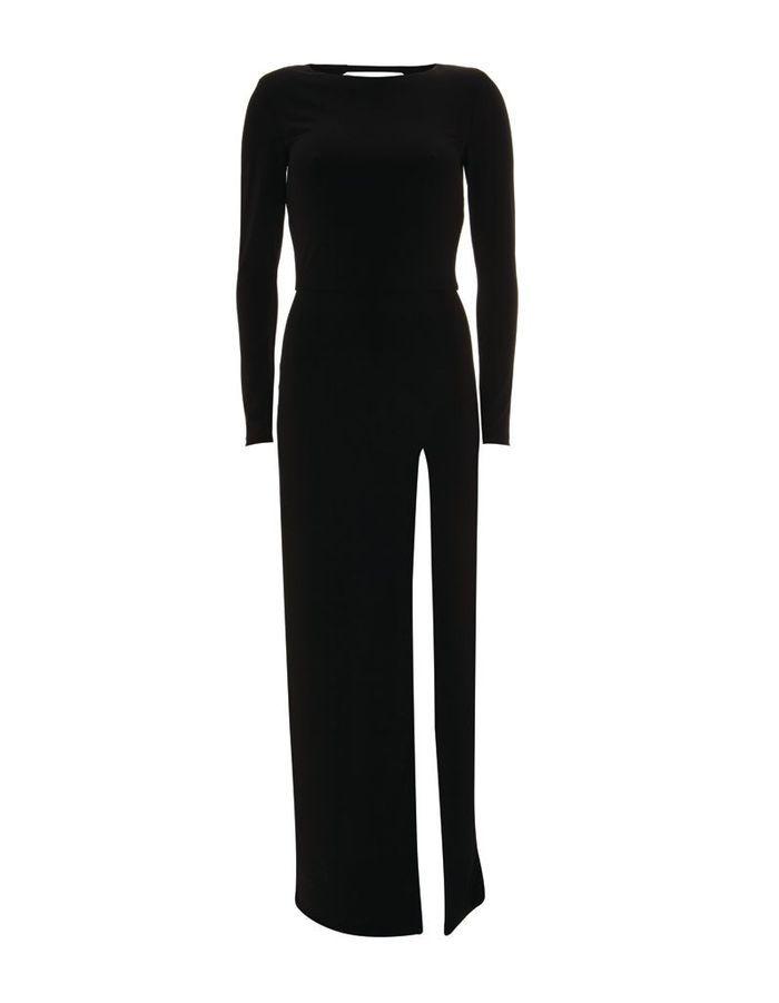 robe longue fendue topshop aux galeries lafayette topshop paris 45 raisons d 39 y aller elle. Black Bedroom Furniture Sets. Home Design Ideas