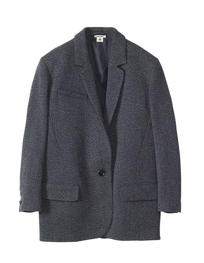 manteau gris isabel marant pour h m isabel marant pour h m toute la collection femme. Black Bedroom Furniture Sets. Home Design Ideas