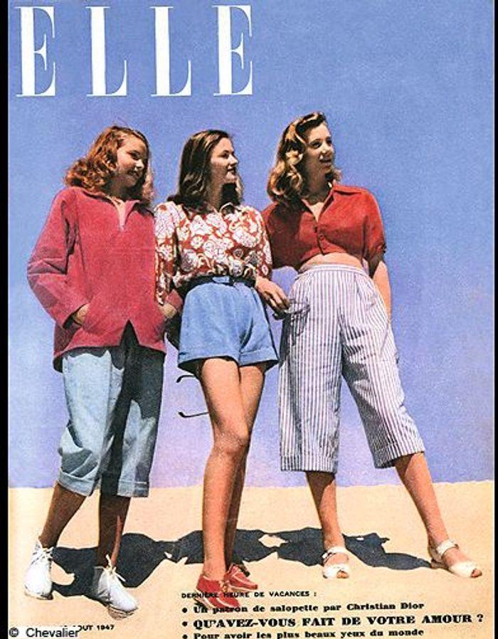 couverture elle magazine 1947 les plus belles couvertures de elle c l brent la journ e. Black Bedroom Furniture Sets. Home Design Ideas