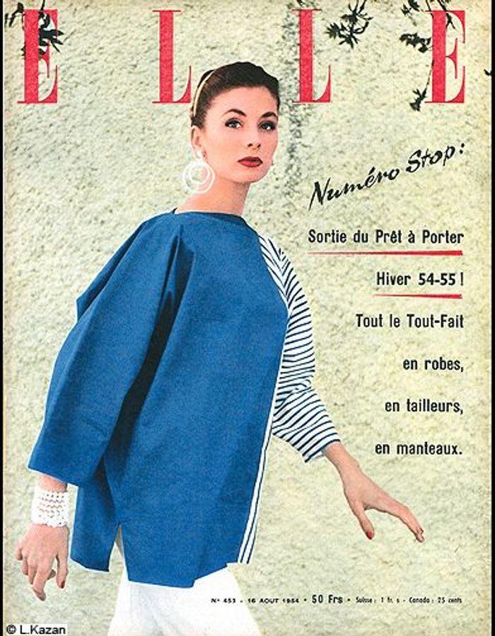 couverture elle magazine 1954 les plus belles couvertures de elle c l brent la journ e. Black Bedroom Furniture Sets. Home Design Ideas