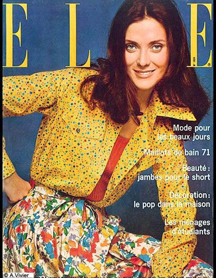 couverture elle magazine 1971 les plus belles couvertures de elle c l brent la journ e. Black Bedroom Furniture Sets. Home Design Ideas