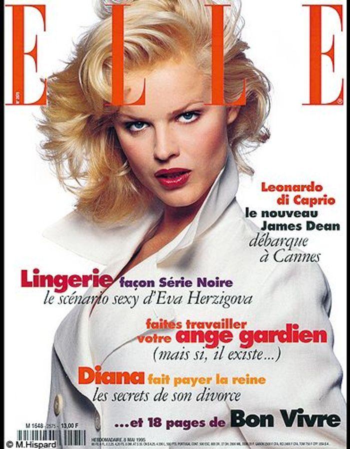 couverture elle magazine 1995 les plus belles couvertures de elle c l brent la journ e. Black Bedroom Furniture Sets. Home Design Ideas