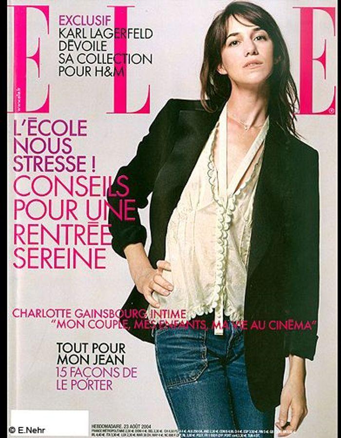 couverture elle magazine 2004 avec charlotte gainsbourg les plus belles couvertures de elle. Black Bedroom Furniture Sets. Home Design Ideas
