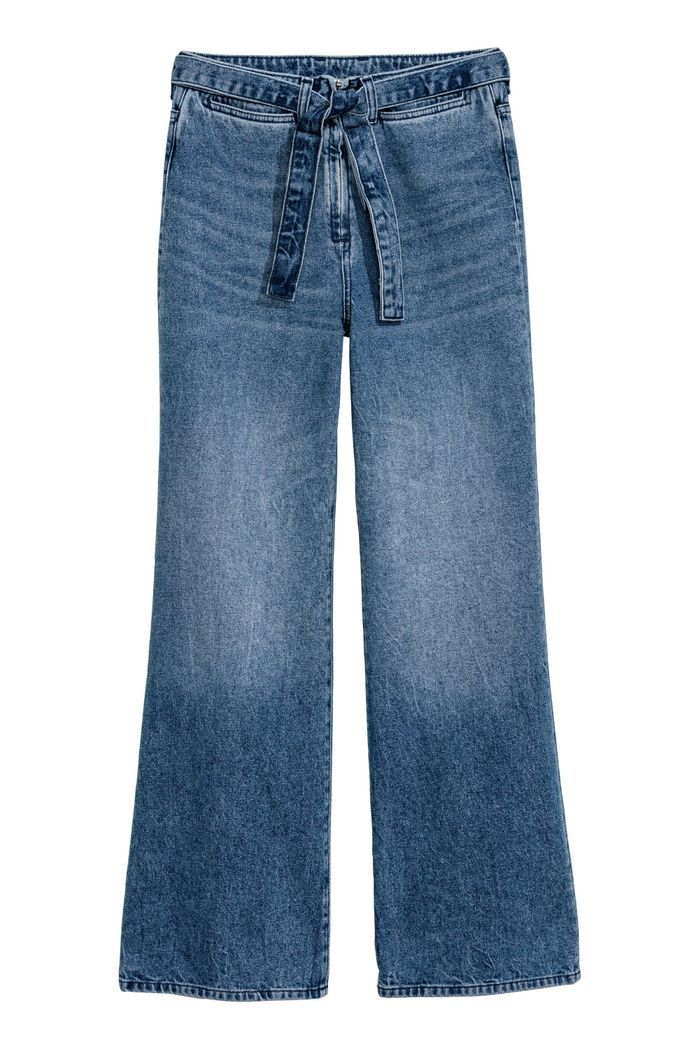 Jean taille haute à nouer H&M