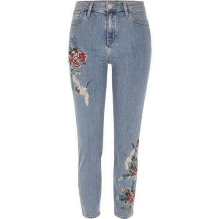 jean brod fleur river island 25 jeans brod s qui nous font de l il elle. Black Bedroom Furniture Sets. Home Design Ideas