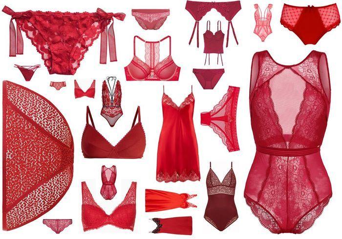 De la lingerie rouge pour réchauffer l'hiver !