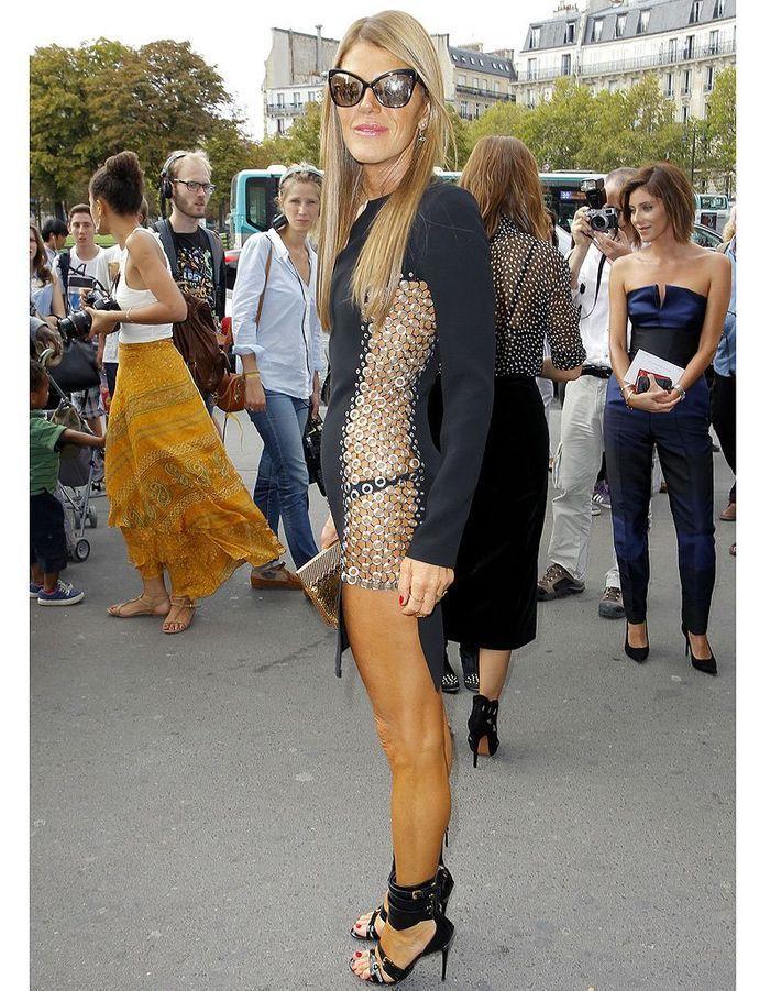 Anna Dello Russo en robe transparente