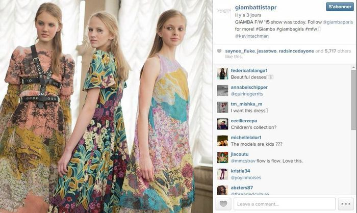 Giambatista valli les 101 comptes instagram suivre pendant la fashion week elle - Qui suivre sur instagram ...