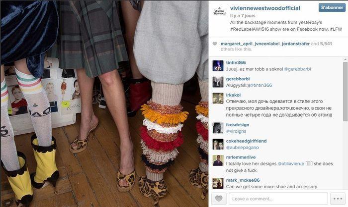 Vivienne westwood les 101 comptes instagram suivre pendant la fashion week elle - Qui suivre sur instagram ...