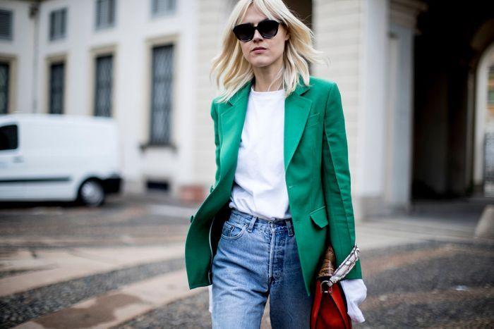 Un blazer de couleur