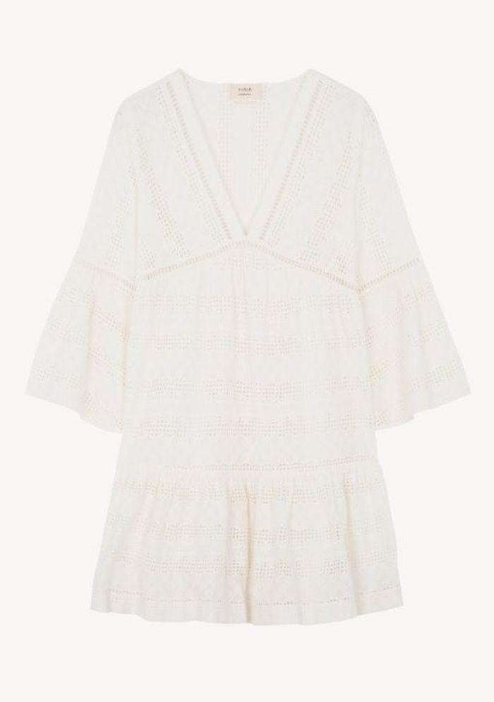 Robe blanche dentelle ba&sh