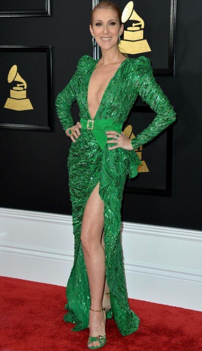 La robe fendue de Céline Dion