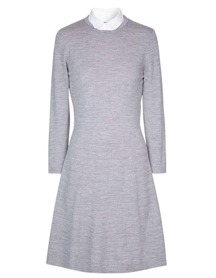 robe manches longues en laine comptoir des cotonniers 40 robes manches longues pour. Black Bedroom Furniture Sets. Home Design Ideas