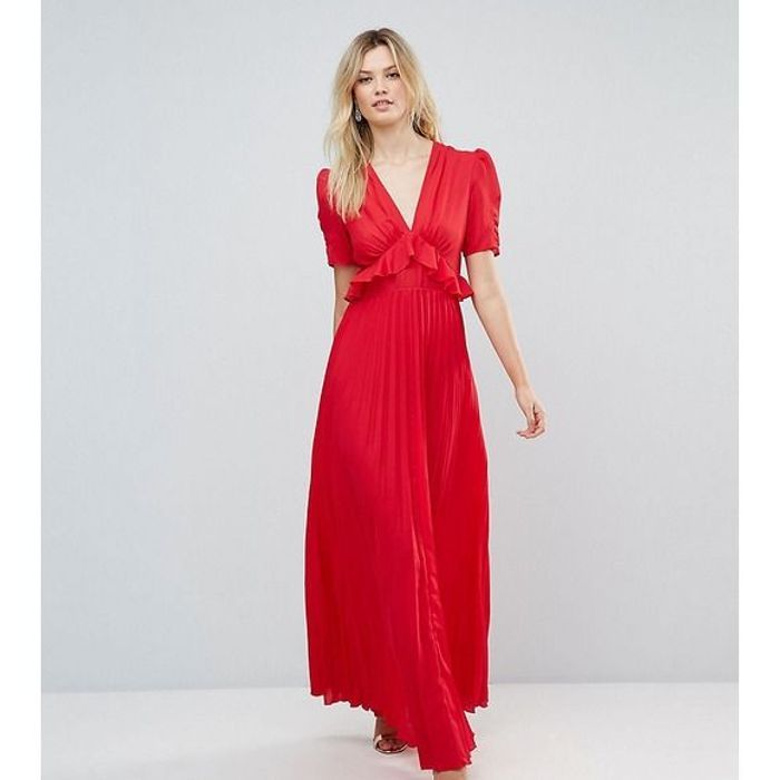 robe rouge longue asos 30 robes rouges qui font monter la temp rature elle. Black Bedroom Furniture Sets. Home Design Ideas