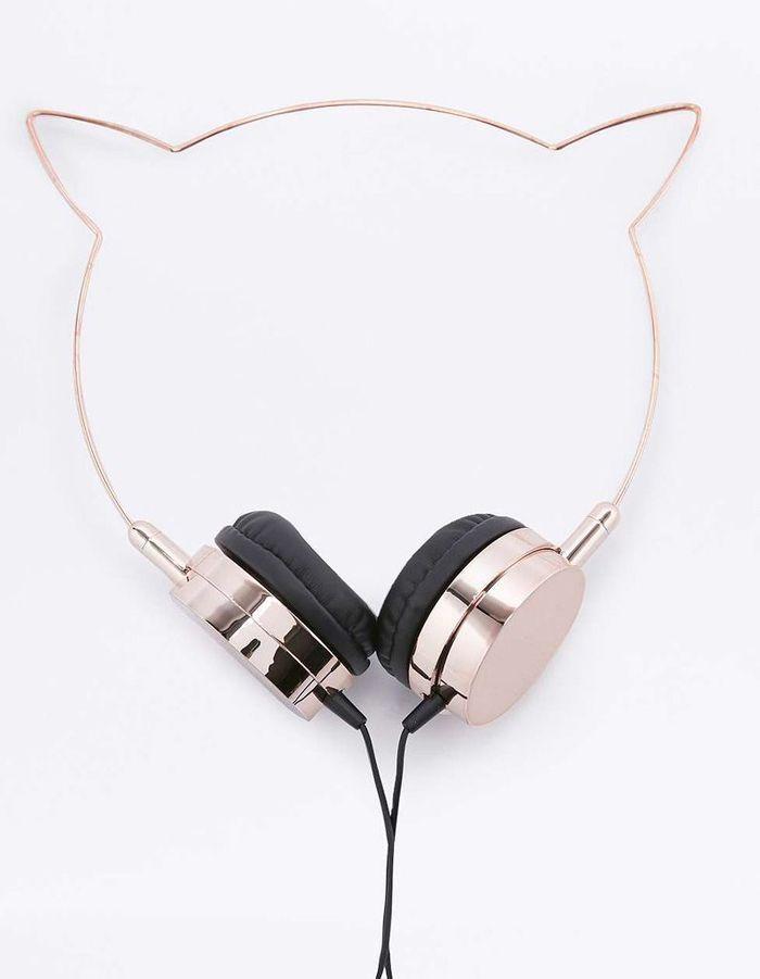 Écouteurs en forme d'oreilles de chat