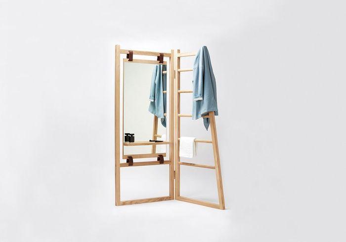 un valet en bois et cuir tr s design no l plus de 100 cadeaux design elle. Black Bedroom Furniture Sets. Home Design Ideas