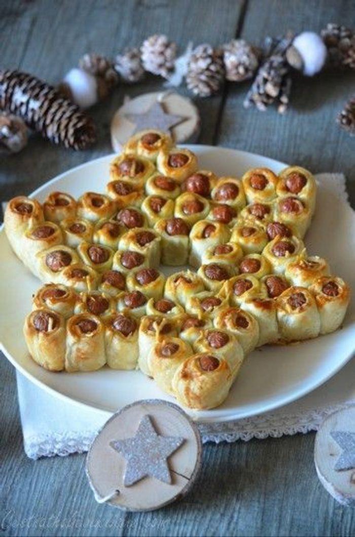 Etoile en feuillet de saucisses no l 20 id es for Pinterest cuisine noel