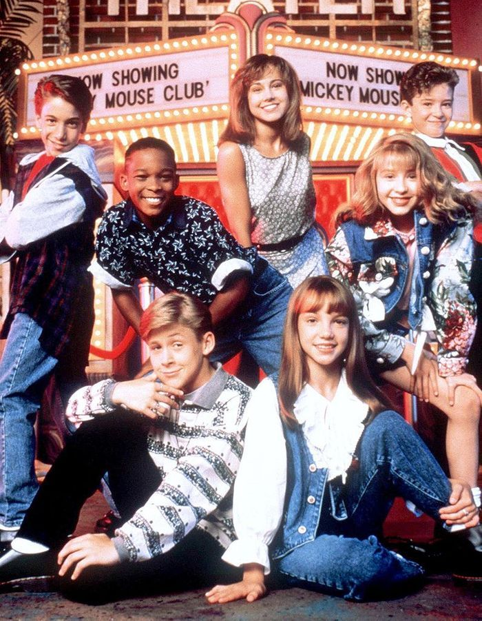 Ryan Gosling au « Mickey Mouse Club », avec Christina Aguilera, Britney Spears et Justin Timberlake.